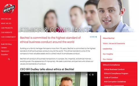 Ethics & Compliance - The Highest Ethical Standards - Bechtel