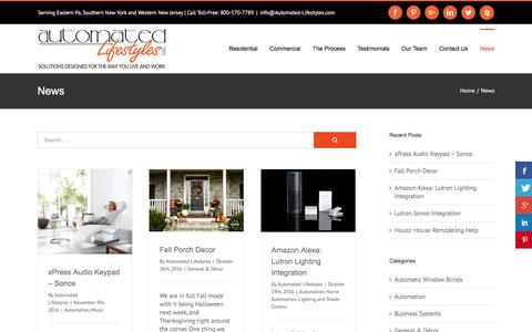 Screenshot of Press Page automated-lifestyles.com - Home Automation News | Automated Lifestyles - captured Nov. 21, 2016