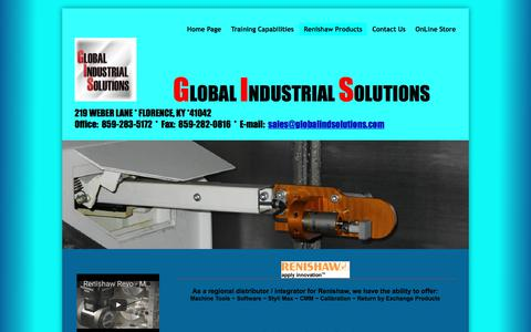 Screenshot of Products Page globalindsolutions.com - Products - captured Aug. 9, 2017