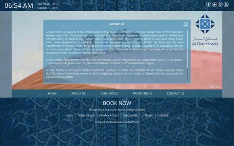 Screenshot of About Page aldiarhotels.com - About us - Al Diar - captured Oct. 29, 2014