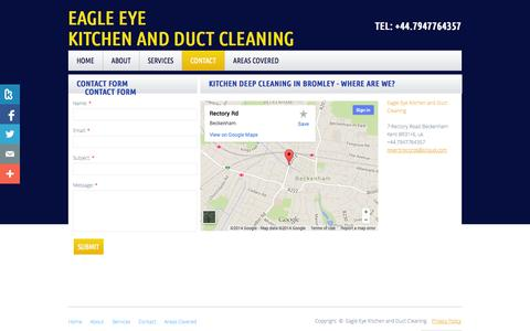Screenshot of Privacy Page Contact Page eekitchenandductcleaning.co.uk - Eagle Eye Kitchen And Duct Cleaning in London, Uk : Contact - captured Oct. 22, 2014