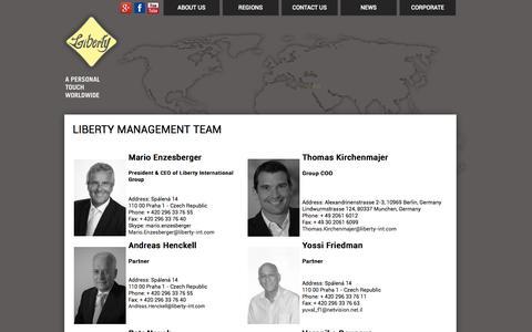 Screenshot of Team Page liberty-int.com - Liberty Management Team - captured Oct. 2, 2014