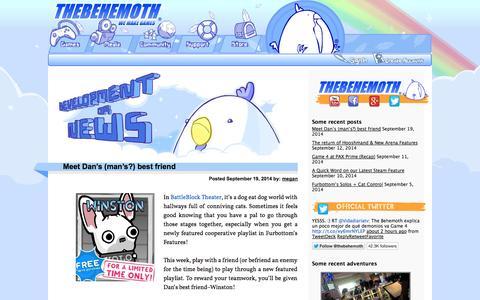 Screenshot of Blog thebehemoth.com captured Sept. 25, 2014