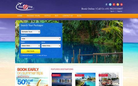 Screenshot of Home Page yougotrip.com - yougotrip | Make your trip - captured Sept. 23, 2014