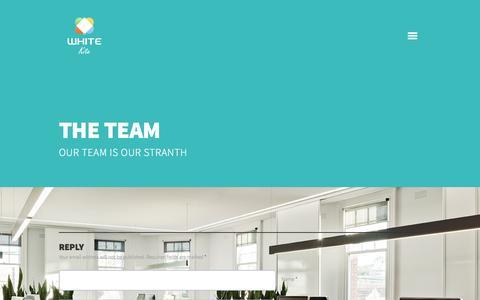 Screenshot of Team Page whitekite.in - The Team | Whitekite Design Agency - captured Oct. 26, 2014