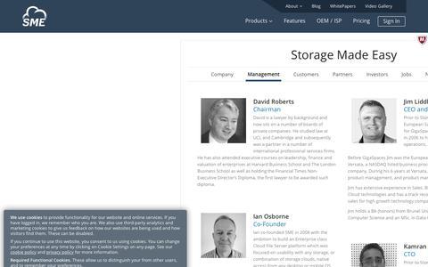 Screenshot of Team Page storagemadeeasy.com - Management   StorageMadeEasy - captured May 14, 2018