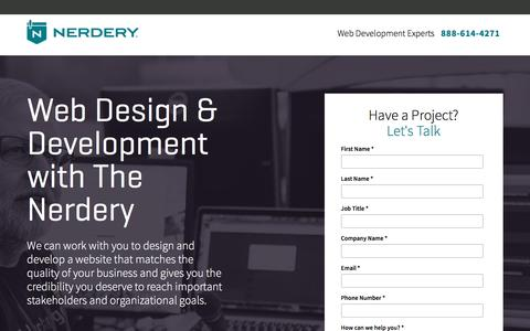 Screenshot of Landing Page nerdery.com - Partner with The Nerdery Web Development Experts | The Nerdery | Nerdery - captured March 21, 2017