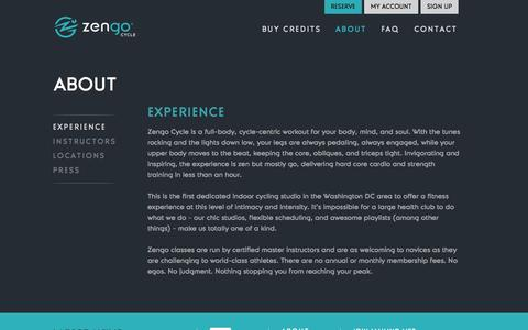 Screenshot of About Page zengocycle.com - Zengo Cycle - captured Oct. 27, 2014