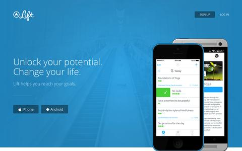 Screenshot of Home Page lift.do - Lift | Succeed at everything. - captured Sept. 16, 2014