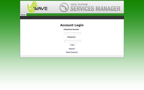 Screenshot of Login Page newwavecom.com - Customer Self-Care Portal - phone.newwavecom.com - captured Oct. 26, 2014