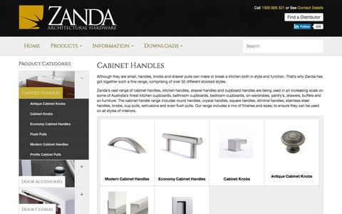 Cabinet Handles | Cabinet Hardware Manufacturers | Zanda