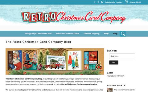 Screenshot of Blog retrochristmascardcompany.com - The Retro Christmas Card Company Blog - Retro Christmas Cards - captured Dec. 3, 2017