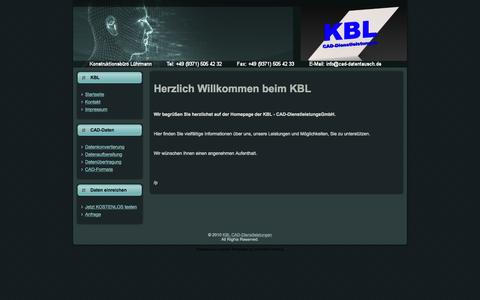 Screenshot of Home Page cad-datentausch.de - KBL CAD-Dienstleistungen - captured June 20, 2015