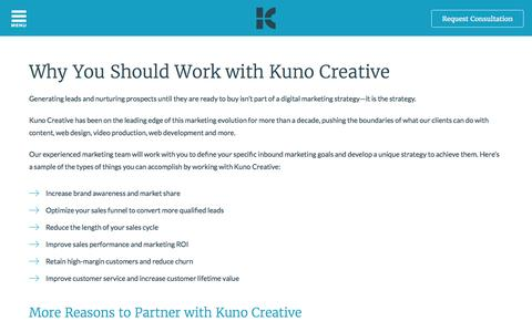 Working with Kuno Creative | Inbound Marketing Agency