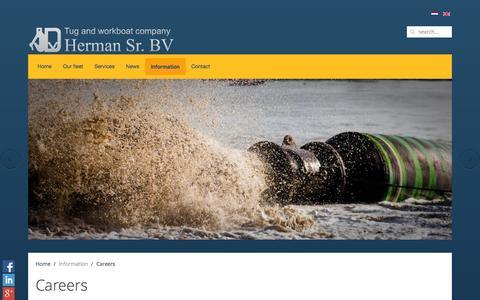 Screenshot of Jobs Page hermansr.com - Careers - Tug and workboatcompany Herman SR - captured Nov. 4, 2014