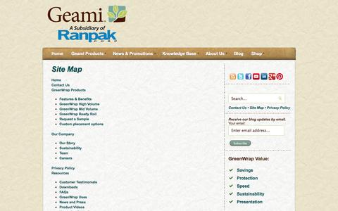 Screenshot of Site Map Page geami.com - Site Map - captured Sept. 29, 2014