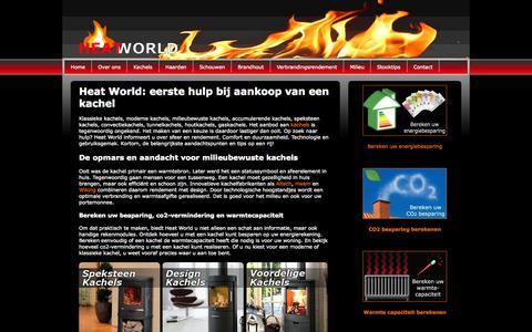 Screenshot of Home Page heat-world.nl - Home - Heat World - captured Oct. 12, 2015