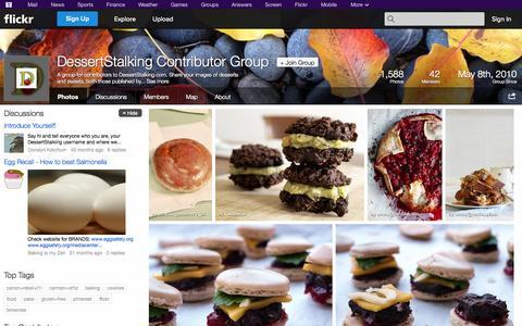 Screenshot of Flickr Page flickr.com - Flickr: The DessertStalking Contributor Group Pool - captured Oct. 23, 2014