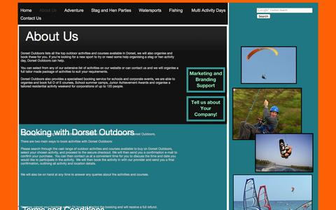 Screenshot of About Page Terms Page dorsetoutdoors.co.uk - About Dorset Outdoors - captured Oct. 23, 2014