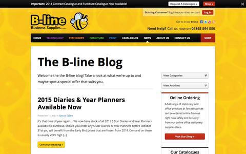 Screenshot of Blog b-line.co.uk - News - B-line Business Supplies - b-line.co.uk - captured Oct. 2, 2014