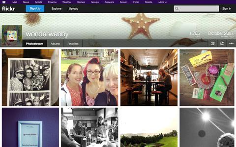 Screenshot of Flickr Page flickr.com - Flickr: wonderwebby's Photostream - captured Oct. 26, 2014