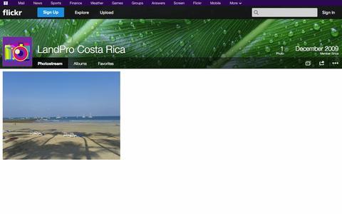Screenshot of Flickr Page flickr.com - Flickr: LandPro Costa Rica's Photostream - captured Oct. 22, 2014