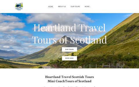 Screenshot of Home Page heartlandtravel.co.uk - Heartland Travel - Tours of Scotland - Scottish Tours | The Highlands & Isle of Skye Scotland Tours | Heartland Travel - captured July 18, 2018