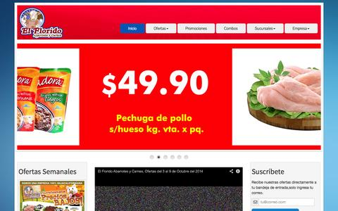 Screenshot of Home Page elflorido.com.mx - El Florido-Que barato Aaah! - captured Oct. 5, 2014