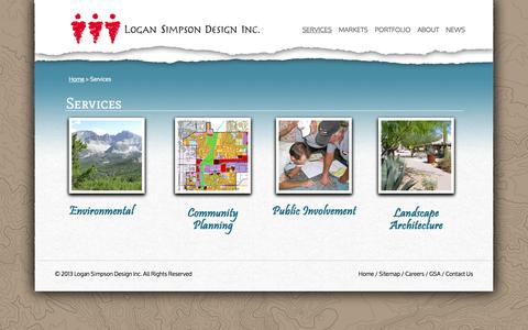 Screenshot of Services Page logansimpson.com - Services - Environmental Consultants   Logan Simpson Design - captured Oct. 3, 2014
