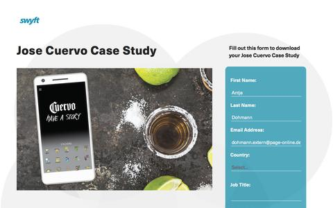 Screenshot of Landing Page monotype.com - Jose Cuervo Case Study - captured April 15, 2016