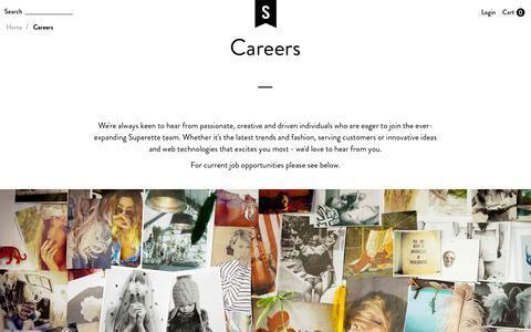 Screenshot of Jobs Page superette.co.nz - Careers  - Superette | Your Fashion Destination. - captured Jan. 13, 2016