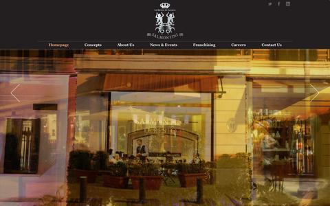 Screenshot of Home Page salmontini.com - Salmontini La Maison du Saumon - Homepage - captured Oct. 1, 2014