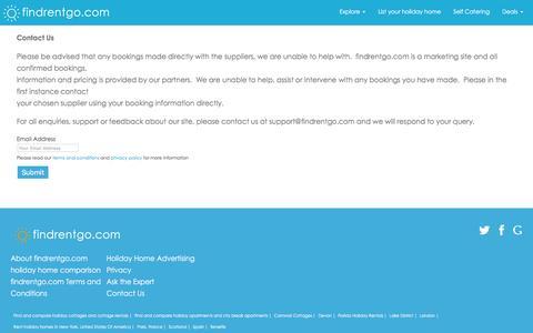 Screenshot of Contact Page findrentgo.com - Contact Us - Find Rent Go - captured Feb. 10, 2016