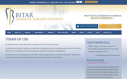 Screenshot of Terms Page bitarinstitute.com - Terms of Use - captured Oct. 30, 2014
