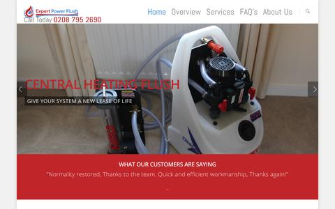 Screenshot of Home Page expertpowerflush.co.uk - Power Flush, Power Flushing Company   Central Heating - captured Dec. 13, 2015