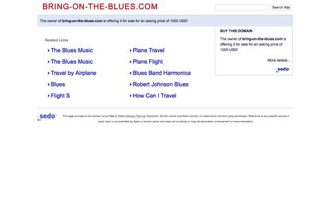 Screenshot of Home Page bring-on-the-blues.com - bring-on-the-blues.com - This website is for sale! - bring-on-the-blues Resources and Information. - captured March 8, 2016
