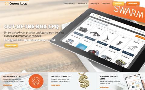 Screenshot of Home Page colonylogic.com captured Sept. 17, 2015