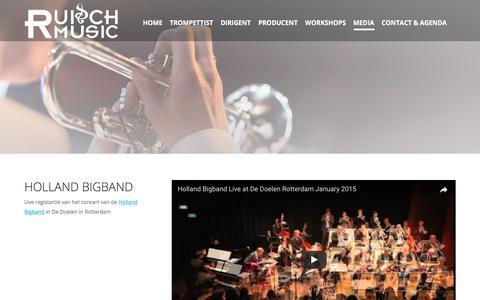 Screenshot of Press Page ruischmusic.com - MEDIA - Ruisch Music - captured June 18, 2017