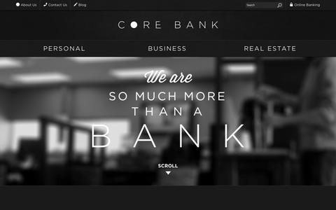 Screenshot of About Page corebank.com - About Us | Core Bank - captured Sept. 30, 2014
