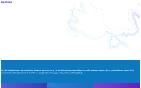 Screenshot of Products Page esri.com - Esri GIS Products | Mapping Software for Desktop, SaaS & Enterprise Applications - captured April 22, 2018