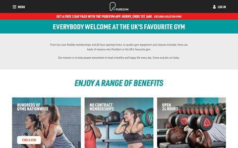 Screenshot of About Page puregym.com - The PureGym Difference | PureGym - captured Dec. 29, 2019