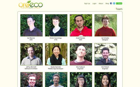 Screenshot of Team Page oroeco.com - Oroeco | Team - captured Sept. 17, 2014