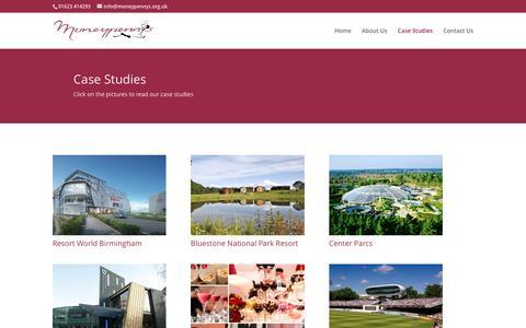 Screenshot of Case Studies Page moneypennys.org.uk - Case Studies | Moneypenny's - captured Dec. 11, 2016