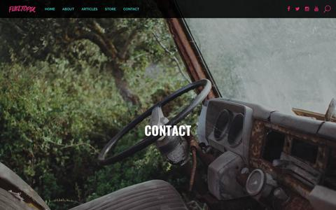 Screenshot of Contact Page fueltopia.co.uk - Contact - fueltopia - captured June 6, 2017