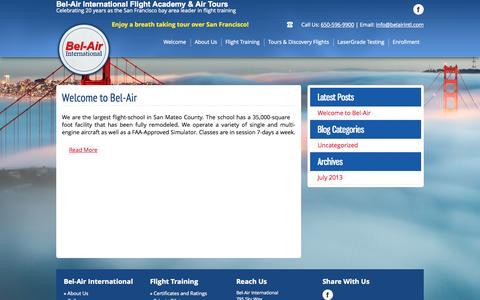 Screenshot of Blog belairintl.com - Blog - Bel-Air International - captured Oct. 5, 2014