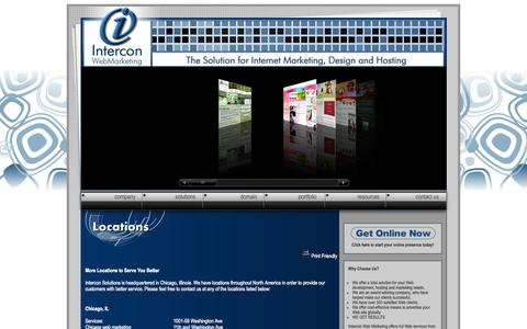 Screenshot of Locations Page interconwebmarketing.com - Web Marketing and Promotion, Chicago Web Design Services - captured Sept. 30, 2014