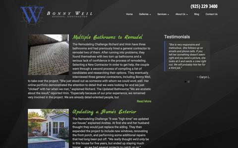 Screenshot of Blog bw-build.com - Blog | Bonny Weil | Bay Area Contractor - captured Feb. 8, 2016
