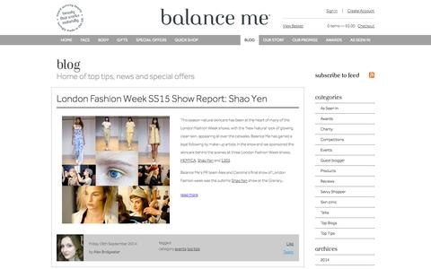Screenshot of Blog balanceme.co.uk - Blog-Balance Me - captured Sept. 19, 2014