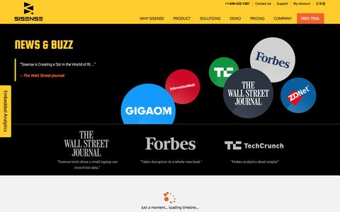 Screenshot of Press Page sisense.com - News, Buzz and Press for Sisense Business Analytics - captured Jan. 18, 2017