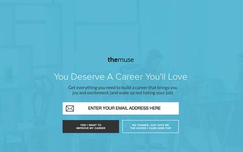Screenshot of Developers Page themuse.com - Free Career Advice | Career Finder - captured Sept. 20, 2015